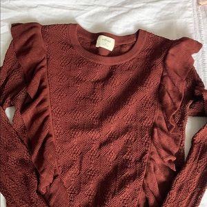 Wilfred ruffled sweater